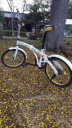 Bicicleta dobrável 7 marchas