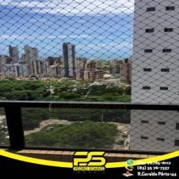 Apartamento com 4 dormitórios para alugar, 150 m² por R$ 3.800/mês - Miramar - João Pessoa