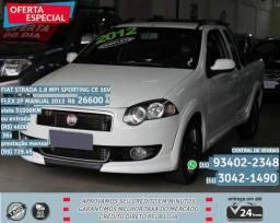 Branco Fiat strada 1.8 mpi sporting ce 16v flex 2p manual 2012 31000km - 2012
