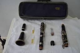Clarinete em Madeira Buescher - USA + Boquilha Poly Crystal ( Raridade)