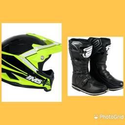 Kit capacete + botas