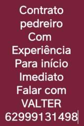 CONTRATO PEDREIRO COM URGÊNCIA
