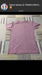 Pack de camisas 100% algodão malha meneghotti cor rosa