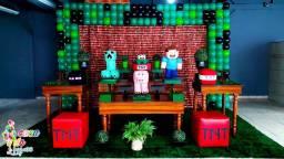 Decoração infantil Minecraft