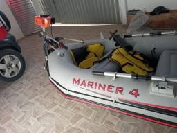 Vendo Bote intex Mariner 4 + Motor