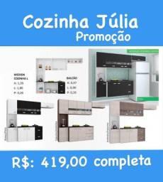 Cozinha completa na cor preto entrega e montagem gratuita Goiânia e região