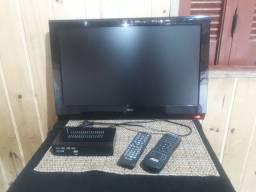 Tv de LCD 22 Polegadas Com Controle e Conversor digital!!