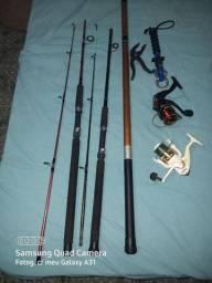 Vende tralhas de pesca esportiva e outros