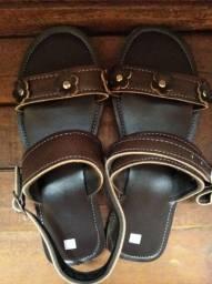 PROMOÇÃO sandálias de couro feminina