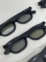 4 Óculos 3d Passivo Tv Mais Player 1 E 2 Original