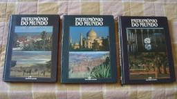 Livro Patrimônio Da Humanidade - 3 Volumes - 1987