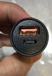 Carregador Veicular  Usb-c Turbo