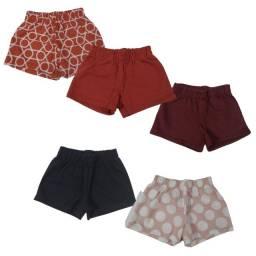 Título do anúncio: Kit 5 shorts sortidos meninas Tam:2