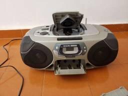 Microsystem Philips rádio, cd, fita k7