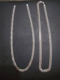 Dois cordões de prata italiana 925