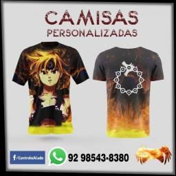 Venda de Camisas e Camisetas Personalizada com sublimação total.