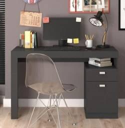 Promoção - Escrivaninha Mesa Computador Chumbo - Apenas R$269,00