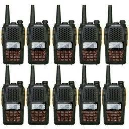 Lote 10 Radio Dual Band(uhf+vhf) Baofeng Uv-6r + Fone