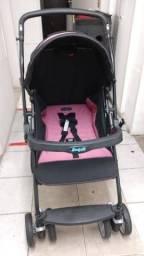Carrinho de Bebê Cross Rosa e Preto
