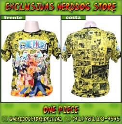 Título do anúncio: Camisa One Piece (Luffy, Zoro, Sanji,  Nami, Nico, Chopper, Brook, Franky) - NerdDog Store
