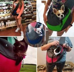 Bolsa canguru para pet cachorro