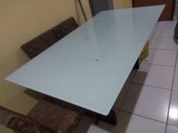 Mesa de vidro adesivada de 6 cadeiras. URGENTE!!!!