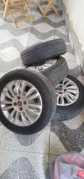 Título do anúncio: Roda 15 pneus todos novos