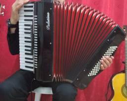 Título do anúncio: A venda acordeon ( Palatino 80 baixos completa com capitação gaita revisada!!