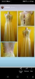 Título do anúncio: Vestido longo bordado M