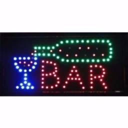 """Título do anúncio: Placa Letreiro de Led Escrito """"Bar"""""""