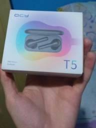 Título do anúncio: Fone de ouvido Qcy T5 Tws bluetooth wireless Novo preto