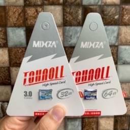 Cartão de Memória 32 / 64 / 128 e 256 Gigas Micro Sd Mixza Classe 10 Original