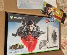 Microsoft, Xbox One x-semi novo. Ed especial Gears 5
