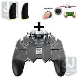 KIT Gamepad Controle AK66 4 Gatilhos + Luva de Dedo Gamer + Analógico Joystick