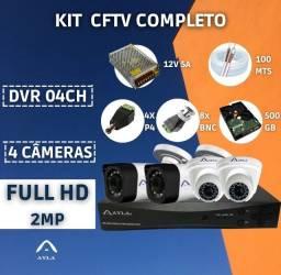 Sistema de 4 câmeras completo