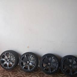Jogo de rodas aro 17 com pneus