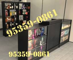 Móveis para adega tabacaria depósito armazém mercadinho estante  vitrine caixa expositor