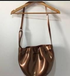 Bolsa melissa dourada sacola original