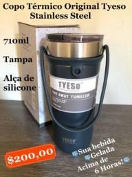 Título do anúncio: Copo térmico stainless steel 710ml - Com alça de silicone