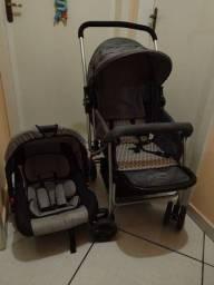 Conjunto carrinho e bebê conforto de acoplar Multikids