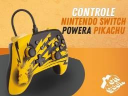Controle Nintendo Switch PowerA Com Cabo- Edição Pikachu   Lacrado com garantia