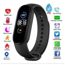Relógio Smartband M5 Bluetooth Monitor Pressão Arterial