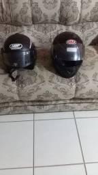 2 capacetes N.60 por R$60,00 reais