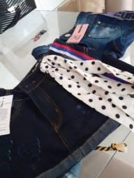 Shorts jeans novos com etiquetas