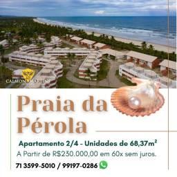 Praia da Pérola Ilhéus, Apartamento 2/4 em 68m² - Super Oportunidade 198 Mil à vista!!