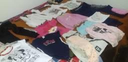 60 reais lote de roupa feminina de 3 a 6 aninhos ,mais sapatos