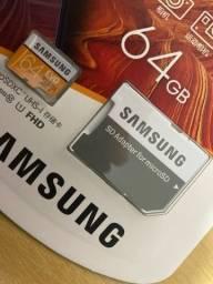 Cartão de memória Samsung EVO 64GB lacrado