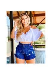 Kit 10 shorts jeans feminino<br><br>
