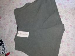 Shortinho feminino alta costura + blusa de boutique estampada