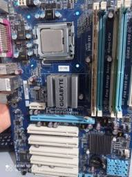 Kit placa mãe processador e memória